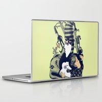sandman Laptop & iPad Skins featuring Ole Lukøje by Xenia Pirovskikh
