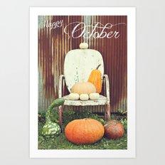 Happy October Art Print