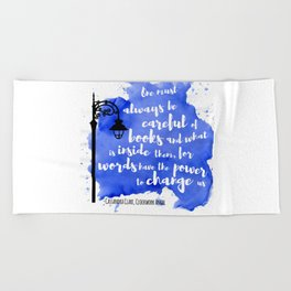 WORDS HAVE THE POWER TO CHANGE US | CASSANDRA CLARE Beach Towel