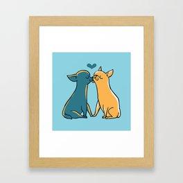 Chihuahua Kisses Framed Art Print