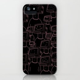 Focus On The Good (Black and Pink) iPhone Case