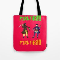 pirates Tote Bags featuring Pirates!!! by Michael Keene