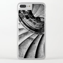 Sand stone spiral staircase Clear iPhone Case