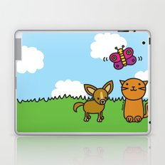 Butterfly, Cat and Dog Laptop & iPad Skin