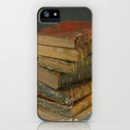 GRUBY SHABBY CHIC ANTIQUE LIBRARY BOOKS iPhone Case