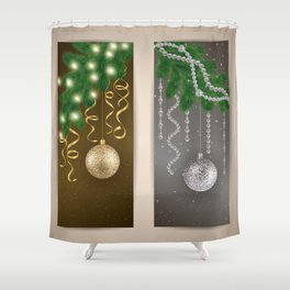 Christmas banners Shower Curtain