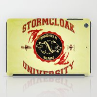 skyrim iPad Cases featuring Stormcloak University(Skyrim) by Chubbybuddhist