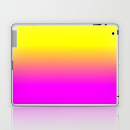 Neon Yellow and Bright Hot Pink Ombré  Shade Color Fade Laptop & iPad Skin