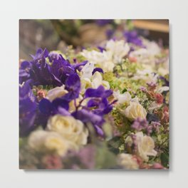 Bouquet of flowers, violets Metal Print