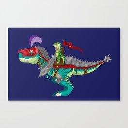 Dino Knight T-Rex Canvas Print