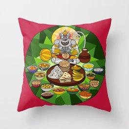 Hanuman's Meal Throw Pillow