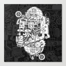 Hungry Gears Canvas Print