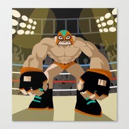 wrestling fighter masked wrestler Canvas Print