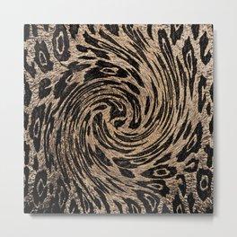 Animal Magnetism Black and  Brown 2 Metal Print