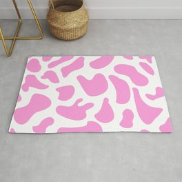 Girly Soft pink Cow Spots Pattern Rug