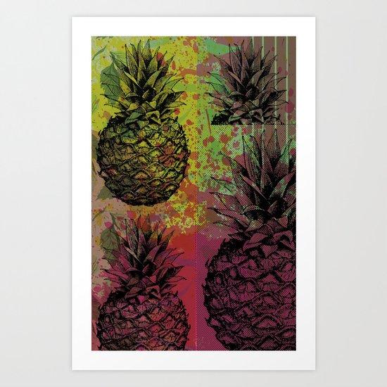 PineApple Fiesta Art Print