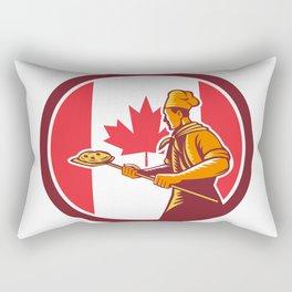 Canadian Pizza Baker Canada Flag Icon Rectangular Pillow