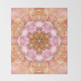Flower of Life Mandalas 18 Throw Blanket