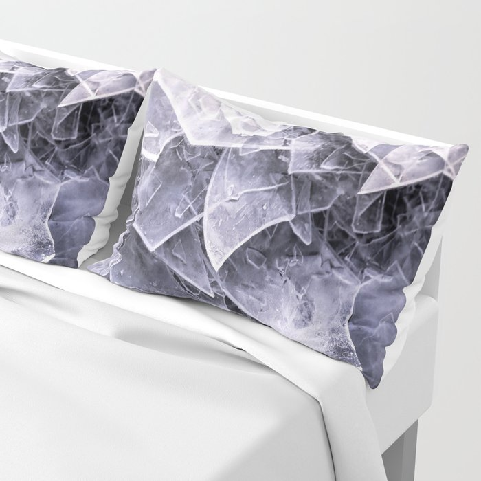 Cracked Ice Tiles In Lake Shore  Pillow Sham