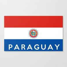Paraguay country flag name text Canvas Print