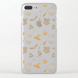 Gryffindor Pattern Clear iPhone Case