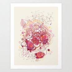 Floral universe orbit Art Print