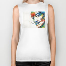 Colorful Dali Art by Sharon Cummings Biker Tank