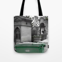 "Le recyclage (Cimetiere du Pere Lachaise, Paris) ""A SAFE PLACE"" series Tote Bag"