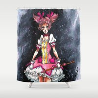 madoka Shower Curtains featuring Madoka Magica by Refrigerator-Art