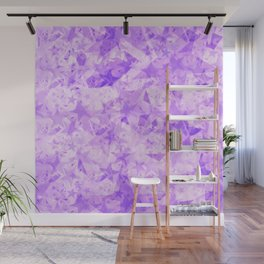 Pastel purple stars on a light background in the projection. Wall Mural