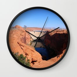 Glen Canyon Dam And Colorado River Wall Clock