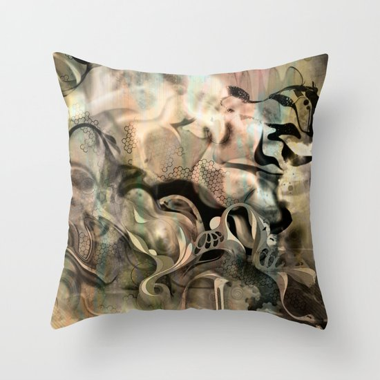 Fluidity Noir Throw Pillow