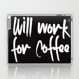 will work for coffee Laptop & iPad Skin