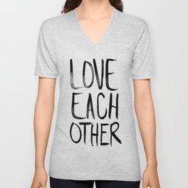 Love Each Other Unisex V-Neck