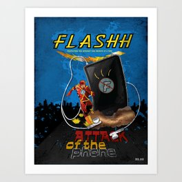 Attack of the Phone! Art Print
