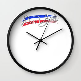 New York with the colors of american flag - Vector Wall Clock
