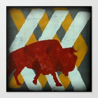 buffalo Canvas Prints featuring Buffalo by Wood Grian & Grits