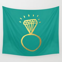 Diamond Ring Wall Tapestry
