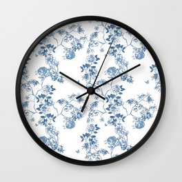 Chinoiserie in White Wall Clock