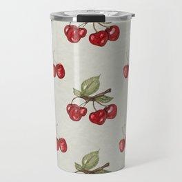 Cherry watercolor pattern Travel Mug