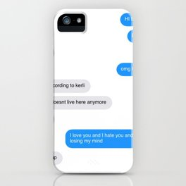 Love Doesn't Live Here Anymore iPhone Case