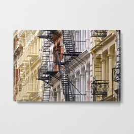 Fire Escapes of SoHo NYC Metal Print