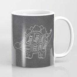 Stegosaurus Dinosaur (A.K.A Armored Lizard) Butcher Meat Diagram Coffee Mug