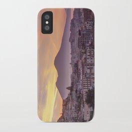 Napoli, landscape with volcano Vesuvio and sea iPhone Case