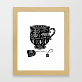 Immerse Yourself Framed Art Print