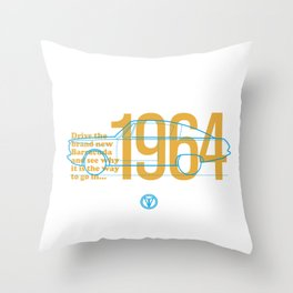 Barracuda - Brand New for 1964 Throw Pillow
