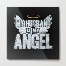 Husband Angel Metal Print