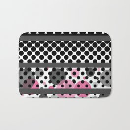 Design Pink and Black Bath Mat