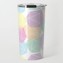 Pastel D20 Pattern Dungeons and Dragons Dice Set Travel Mug