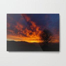 Winter Sunset 2 Metal Print